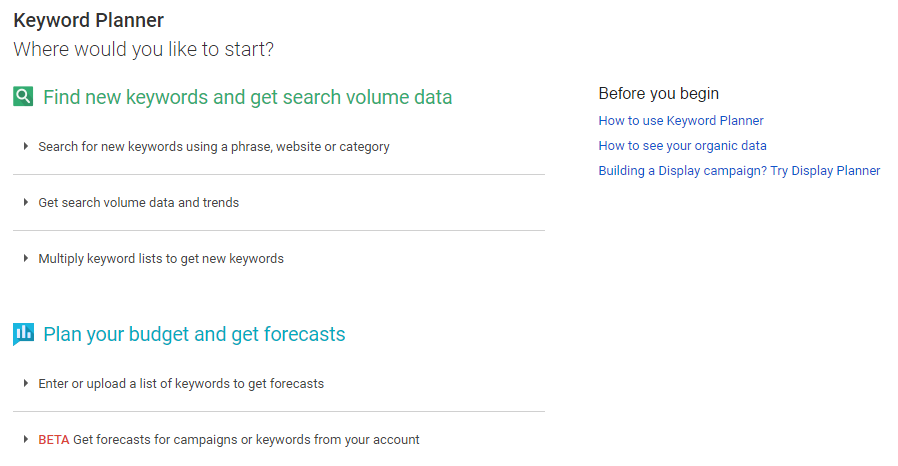 keyword-planner-start-page